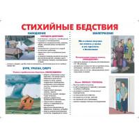 Действия населения при стихийных бедствиях ( комплект из 9 плакатов)
