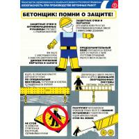 Безопасность при проведении бетонных работ (Комплект из 3-х плакатов)