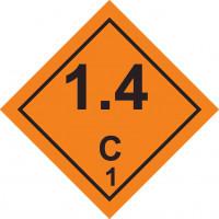 Знак опасности Класс 1. Подкласс 1.4. Взрывчатые вещества и изделия