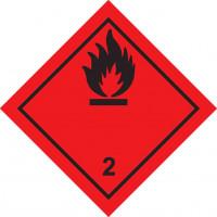 Знак опасности Класс 2. Подкласс 2.1  Легковоспламеняющиеся газы