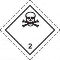 Знак опасности Класс 2. Подкласс 2.3 Токсичные Газы