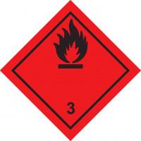 Знак опасности Класс 3  Легковоспламеняющиеся жидкости