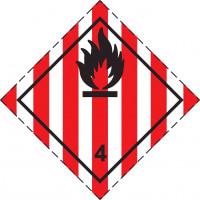 Знак опасности Класс 4. подкласс 4.1 Легковоспламеняющиеся твердые вещества