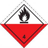 Знак опасности Класс 4. подкласс 4.2 Вещества, способные к самовозгоранию