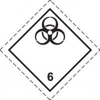 Знак опасности Класс 6. подкласс 6.2. Инфекционные вещества