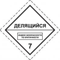 Знак опасности Класс 7. Радиоактивные материалы  Делящийся материал класса 7