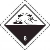 Знак опасности Класс 8. Коррозионные вещества