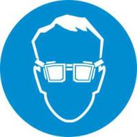 М01 Работать в защитных очках