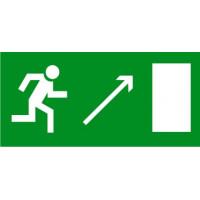 Е05 Направление к эвакуационному выходу направо вверх