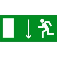 E10 Указатель двери эвакуационного выхода (левосторонний) (пленка 150х300)