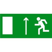 Е12 Направление к эвакуационному выходу прямо (левосторонний)