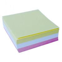 Блок бумаги для заметок  цветной без проклейкой