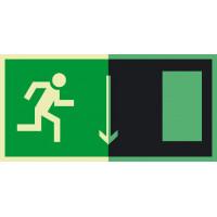 Знак Е09 Указатель двери эвакуационного выхода. Правосторонний.фотолюминесцентный
