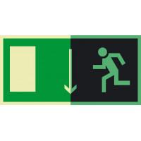 Знак Е10 Указатель двери эвакуационного выхода. Левосторонний фотолюминисцентный