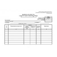 Выписка из реестра о намолоте зерна и убранной площади форма СП-10
