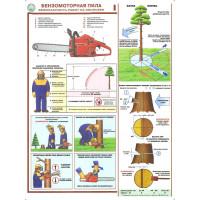 Бензомоторная пила Безопасность работ на лесосеке (Комплект из 3-х плакатов0