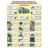 Профилактика пожаров на автотранспортных средствах Комплект из 2-х плакатов)