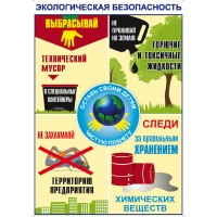 Плакат Экологическая безопасность