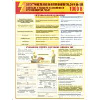 Электроустановки   напряжением до и свыше 1000В (Комплект из 3-х плакатов)