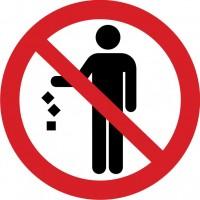 Не мусорить. Знак